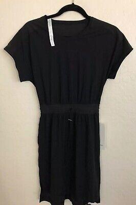 NWT Lululemon Size 2 Throw It On Dress BLK Black $118