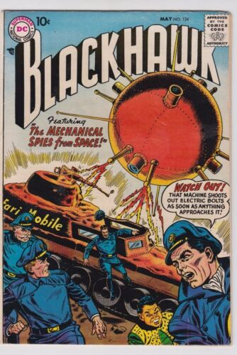 BLACKHAWK #124 1958 DC COMICS FN CONDITION