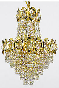 Gold crystal chandelier ebay french empire crystal chandelier lighting fixture pendant ceiling lamp gold 4lts aloadofball Gallery