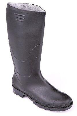 610 PVC Stiefel für Herren auch in Übergrößen Gummistiefel Berufstiefel schwarz ()