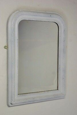 Antique French White Mirror Louis Philippe 64 cm x 49 cm