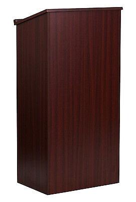 Flash Furniture Stand-Up Lectern, Mahogany MT-M8830-LECT-MAH-GG New