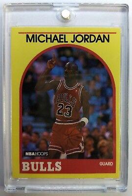 Yellow Border (1989 89-90 MICHAEL JORDAN Hoops Sears SUPER STAR #12, Rare Yellow Border! $60 BV )