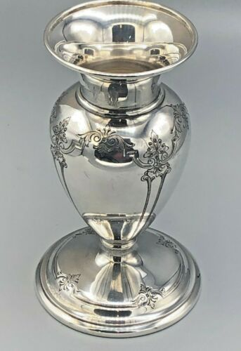 """Antique Hardy & Hayes Sterling Silver Vase 6.5"""" , excellent condition"""