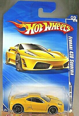 2010 Hot Wheels #127 Global All Stars 9/10 FERRARI 430 SCUDERIA Yellow Variation