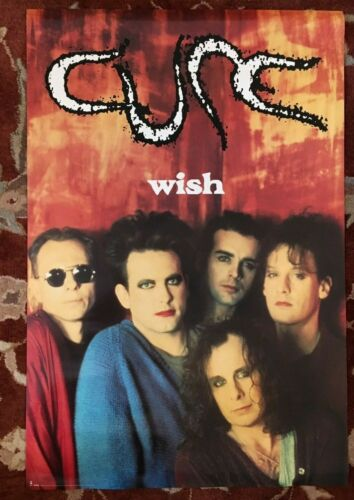 """THE CURE  Wish  rare original promotional poster  24""""x36"""""""