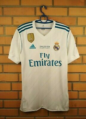 043ea938f Real Madrid jersey small shirt 2018 Final Kyiv UEFA AZ8059 soccer Adidas