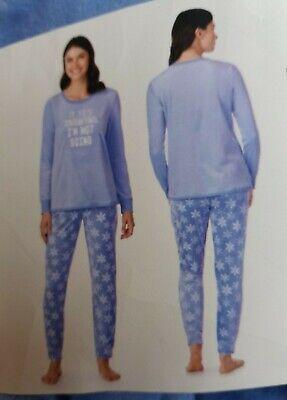 Jane & Bleecker Ladies Soft Embroidered Plush 2 Piece Snowflake Pyjama Set - XL