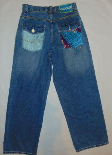 Coogi KIDS Girls Boys Sz 16 UNIQUE Medium Wash Denim Jeans PARROT POCKETS @@@@