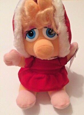 Henson Muppet Babies Christmas Plush Muppets 1988 McDonalds Ms Piggy Kermit NWT (Kermit Ms Piggy)