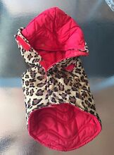 Dog jacket 4under10kg-reversible-red quilted or tiger Bundall Gold Coast City Preview