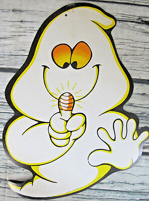 Vintage Tsan Yih Halloween 1989 Die Cut Ghost with Light Finger Decoration - Halloween Cut Fingers