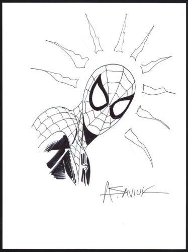 Alex Saviuk Original Marvel Comic Art Sketch ~ The Amazing Spiderman