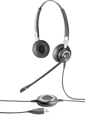 Jabra BiZ 2400 Duo MS Stereo Lync Optimized Corded PC USB Headset 2499-823-105 for sale  Shipping to India