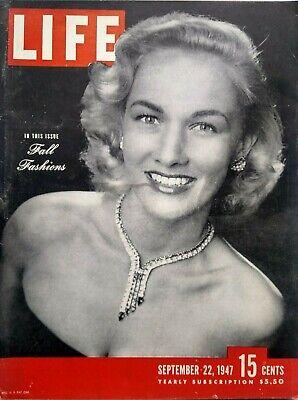 Life Magazine September 22 1947 Homing Pigeons Jewish Exodus Refugees Fashion