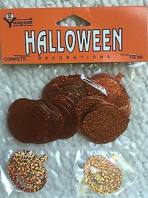Halloween Confetti-Irisescent Orange Pumpkins-1