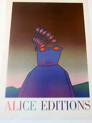 Folon French Pop Artist Mini Poster for Alice Editions 16x11 PP Artist Mini Poster