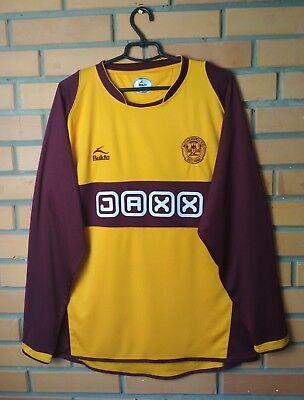 Motherwell Jersey 2008 2010 Home L Shirt Soccer Long Sleeve Bukta Football  image