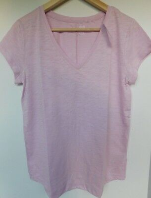 NWT GAP Women's Easy V-Neck T-Shirt Iris Rounded Hem XS S M L 2XL Free Ship New