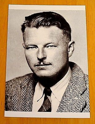 PENGUIN MODERN CLASSIC WRITERS ~ MALCOLM LOWRY ~ PRINTED POSTCARD ~ NEW