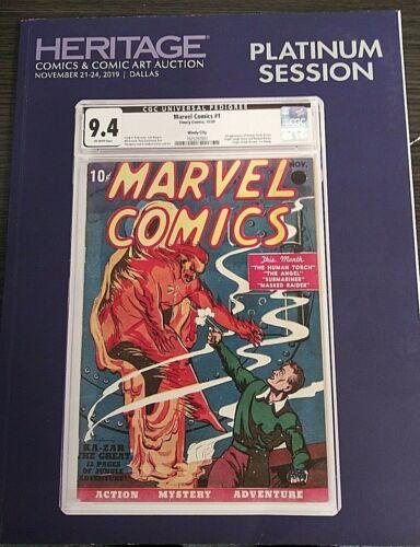 Heritage Comics & Comic Art Auction book Platinum Session Dallas Nov. 2019