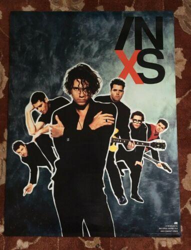 INXS  X  rare original promotional poster  MICHAEL HUTCHENCE