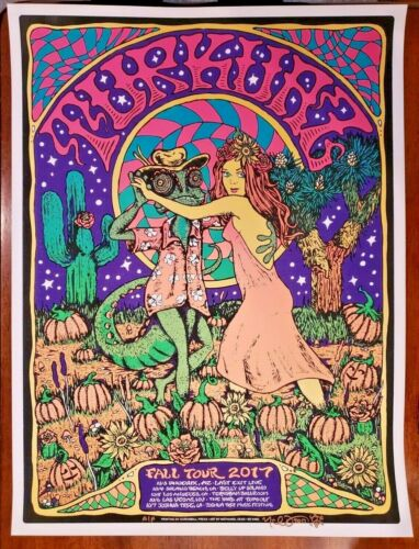Turkuaz Poster Fall Tour 2017 Nathaniel Deas Signed AP Phish PPPP