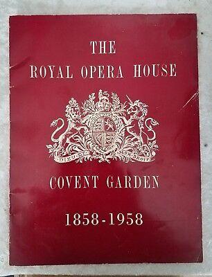 Royal Opera House Covent Gardens 1958 Centennial Program VG