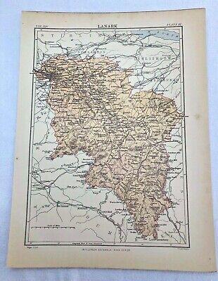 circa 1880s map of lanark !  ( adam & charles black )