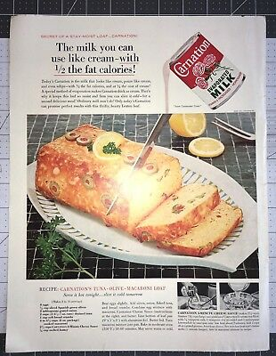 Life Magazine Ad CARNATION EVAPORATED MILK Cover February 10 1961 Back fro Space