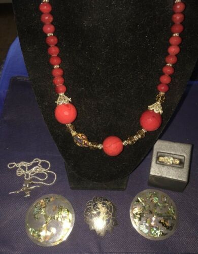 LOT OF VINTAGE SIGNED 925 & STERLING SILVER WEARABLE JEWELRY
