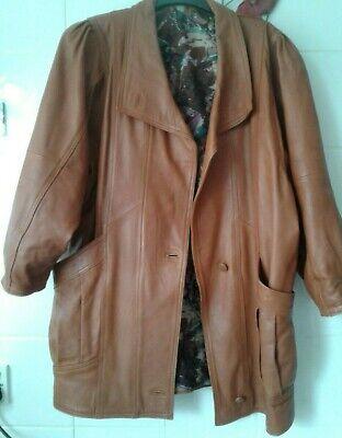 Ladies vintage 80's/90's tan leather Jacket 'Dallas'  size M