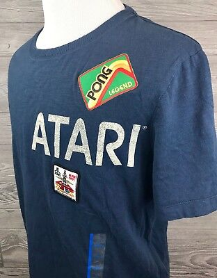 Atari Retro Men's Shirt by Junk Food Pong Missile Command Patches S, 2XL