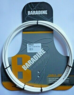 GAINE FREIN BARADINE CABLE HOUSING 5mm x 2500mm KEVLAR WHITE *HIGH QUALITY*