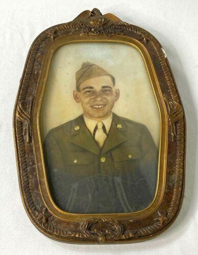 WWII US Army Convex Framed Portrait