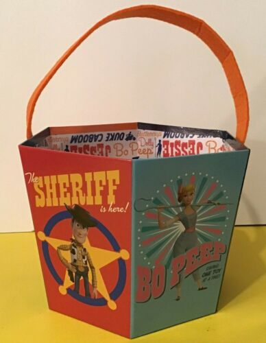 """Paperboard Easter/Halloween Candy Bucket Toy Story 4 Forky, Woody +4  8""""x 7"""""""