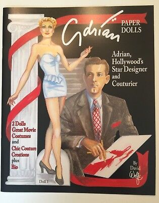 ADRIAN Designer Paper Doll Book w/ Famous Movie Costumes--SPECIAL PRICE!
