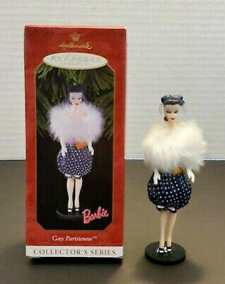 1999 Hallmark Keepsake Christmas Ornament Gay Parisienne 6th In Barbie Series