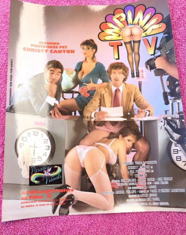 Vintage John Holmes Porn Movie Advertisement 1980s Poster Advertisement Flyer