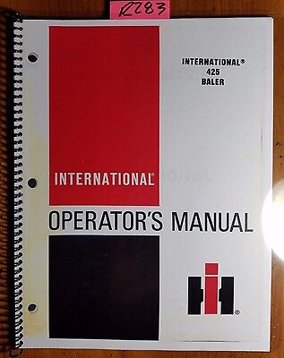 Case Ih International Harvester 425 Baler Owner Operators Manual 1135044r2 484