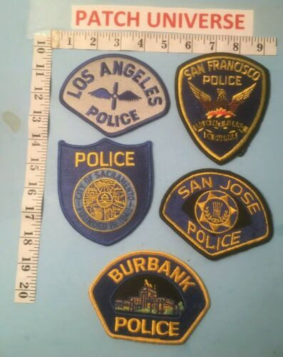 LOT OF FIVE  DIFFERENT CALIFORNIA  SHOULDER PATCHES L043