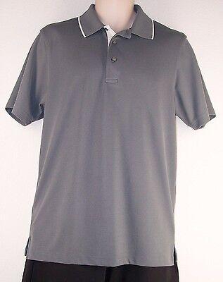 Mens Pga Tour Golf Shirt Size Medium  M  Short Sleeve  Dark Gray 100  Polyester