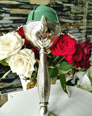 Oasis Elegant Silber Brautstraußhalter Hammered Bouquet Holder Straußhalter
