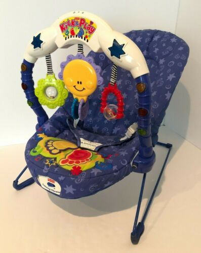 Fisher Price Calming Vibrations Kick and Play Musical Baby Bouncer Seat Vintage