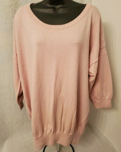 Motherhood Maternity Womens Pink Rabbit Hair Sweater Top Size XL