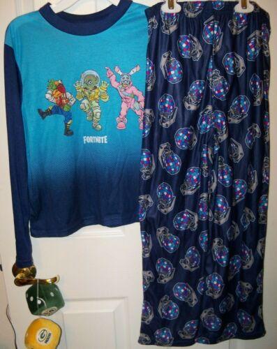 Fortnite Team Dance Flame Resistant 2 Piece Pajama PJ Set Boys Size 16 NWT