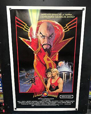 Original Spanish 1980 FLASH GORDON One Sheet Movie Poster Rolled Sci-Fi Classic