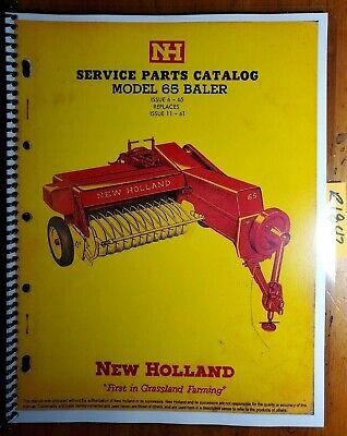 New Holland 65 Baler Service Parts Catalog Manual 65-4 12m 665