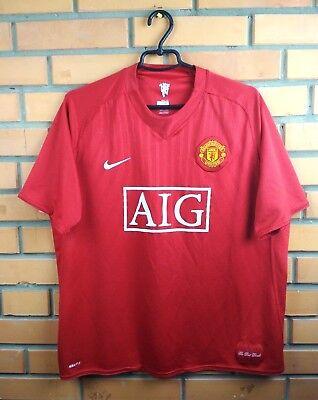 405ee5048 Manchester United jersey XL 2007 2009 home shirt soccer football Nike