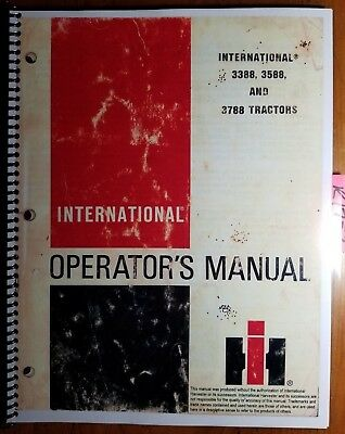 Ih International 3388 3588 3788 Tractor Owner Operator Manual 1 096 188 R4 1080